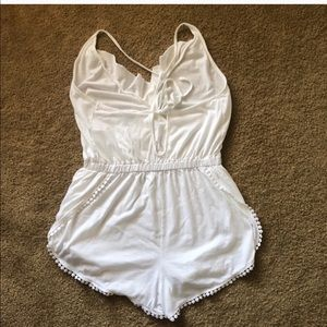 de445d464321 Topshop Swim - TopShop White Jersey Wrap Cover Up Romper Size S